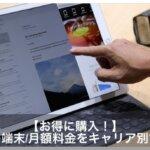 【Apple】iPad Proの料金価格を徹底比較!ソフトバンク/ドコモ/au