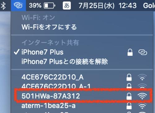 ポケットwifi,接続,パソコン