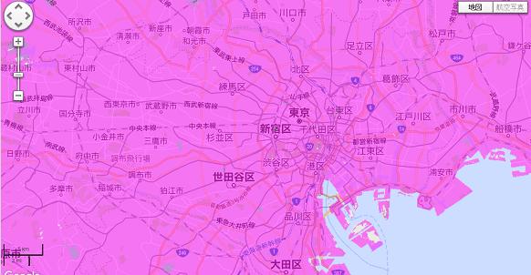 ポケットWiFi,WiMAXエリアマップ