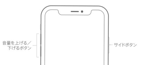 iPhone X,再起動,手順