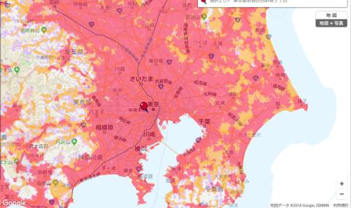 LTEのヒートマップ