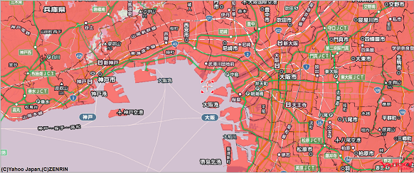 Softbank LTE回線,利用可能エリア