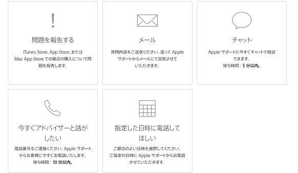 Apple,問い合わせ手段
