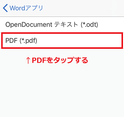 iPhone,Word,PDF変換