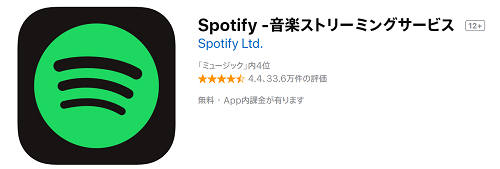 iPhone,音楽アプリ,Spotify