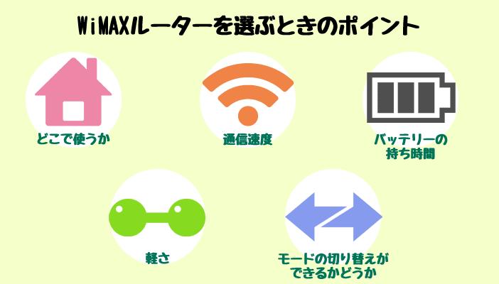 WiMAXルーターを選ぶときのポイント