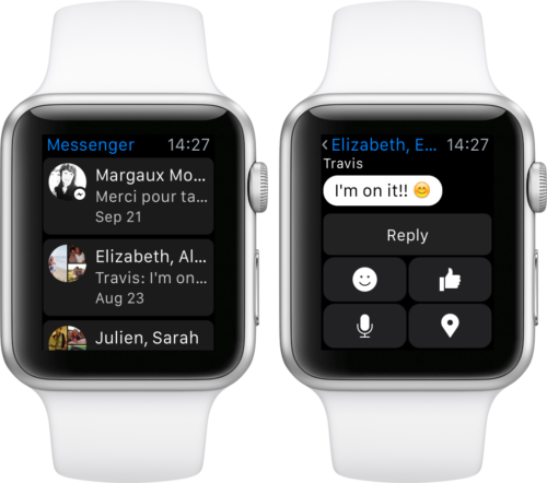 Applewatch,messenger