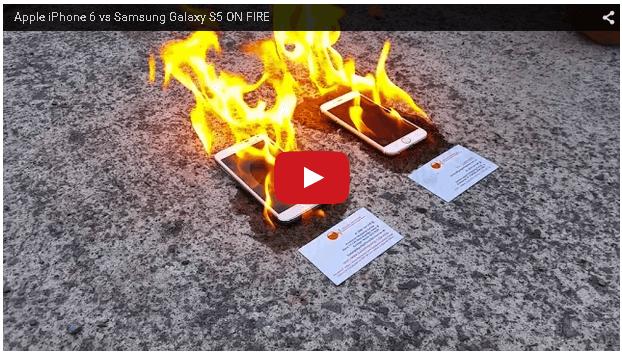 iphone火災テスト