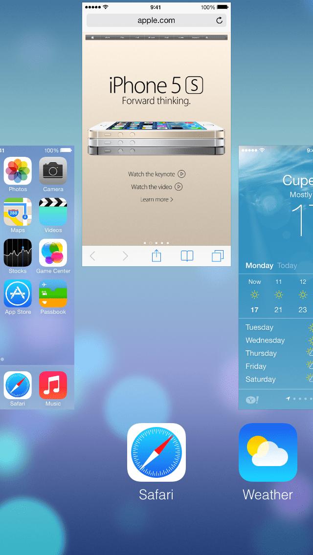 app マルチタスク削除