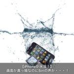 iPhoneを水没して画面が真っ暗なのにsiri音が出る場合の対処方法とは?